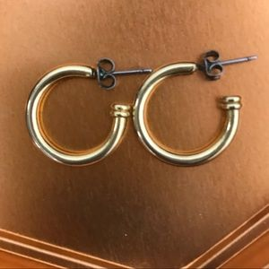 Vintage gold-plated hoops